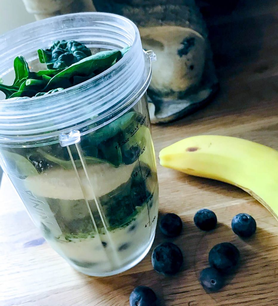 Super Green Smoothie Recipe before it's blended